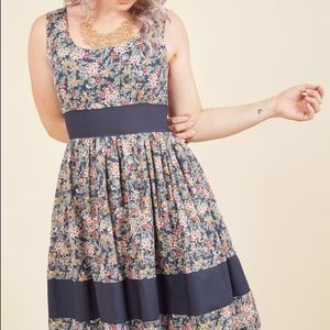 ModCloth: Veggie Patch Picks Floral Dress in Bloom